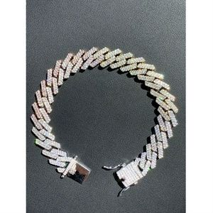 Harlembling Tri Color Prong Miami Cuban Bracelet